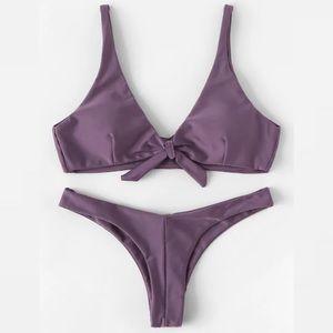Purple cheeky bikini